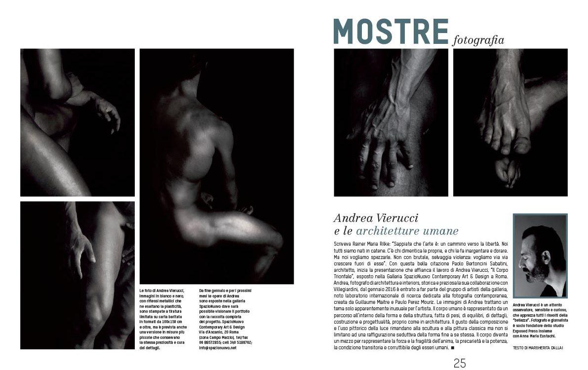 nudo maschile galleria spazio nuovo roma villegiardini